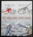 Poštovní známky Burundi 2012 Vážky neperf. Mi# 2773-76 B