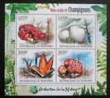 Poštovní známky Burundi 2012 Houby Mi# 2530-33 Kat 10€