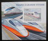 Poštovní známka Burundi 2013 Vysokorychlostní lokomotivy neperf. Mi# Block 390 B