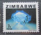 Poštovní známka Zimbabwe 1980 Modrý topaz Mi# 231
