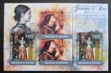 Poštovní známky Burundi 2012 Jana z Arku DELUXE Mi# 2290,2293 Block Kat 10€