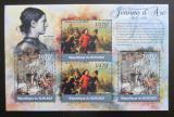 Poštovní známky Burundi 2012 Jana z Arku DELUXE Mi# 2291-92 Block Kat 10€