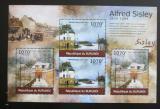 Poštovní známky Burundi 2012 Umění, Alfred Sisley DELUXE Mi# 2323,2325 Kat 10€