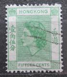 Poštovní známka Hongkong 1954 Královna Alžběta II. Mi# 180