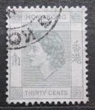 Poštovní známka Hongkong 1954 Královna Alžběta II. Mi# 183