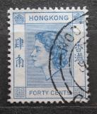Poštovní známka Hongkong 1954 Královna Alžběta II. Mi# 184