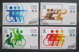 Poštovní známky Hongkong 1982 Sportovní hry postižených Mi# 404-07 Kat 8.20€