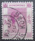 Poštovní známka Hongkong 1950 Král Jiří VI. Mi# 153 IIIy A b