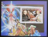 Poštovní známka SAR 1990 Michail Gorbačov a papež Jan Pavel II. Mi# 1443 Block