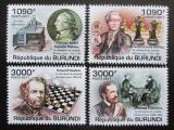 Poštovní známky Burundi 2011 Světoví šachisti Mi# 2254-57 Kat 9.50€