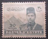 Poštovní známka Egypt 1939 Král Farouk a pyramidy Mi# 252 a