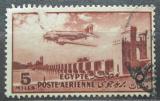 Poštovní známka Egypt 1947 Letadlo nad přehradou Mi# 307