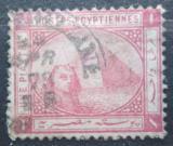 Poštovní známka Egypt 1879 Sfinga a pyramida Mi# 26