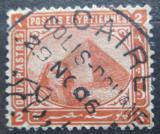 Poštovní známka Egypt 1879 Sfinga a pyramida Mi# 27 a