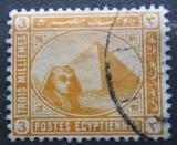 Poštovní známka Egypt 1893 Sfinga a pyramida Mi# 41