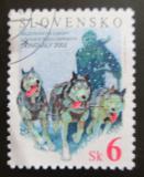Poštovní známka Slovensko 2002 MS psích spřežení Mi# 417