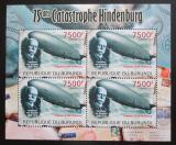 Poštovní známky Burundi 2012 Zkáza Hindenburgu DELUXE Mi# 2395 Bogen Kat 9€