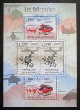 Poštovní známky Burundi 2012 Helikoptéry DELUXE Mi# 2471,2474 Bogen Kat 10€