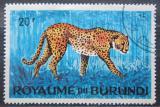 Poštovní známka Burundi 1964 Gepard štíhlý Mi# 99