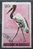 Poštovní známka Burundi 1965 Čáp sedlatý Mi# 155