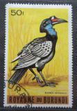 Poštovní známka Burundi 1965 Zoborožec havraní Mi# 156