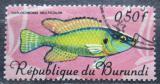 Poštovní známka Burundi 1967 Haplochromis strigigena Mi# 319