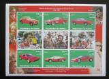 Poštovní známky Guinea 1998 Ferrari neperf. Mi# 1977-85 B