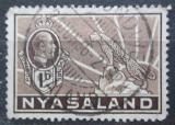 Poštovní známka Ňasko, Malawi 1934 Král Jiří V. a levhart Mi# 37
