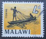 Poštovní známka Malawi 1964 Rybářská síť Mi# 5