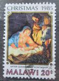Poštovní známka Malawi 1985 Vánoce, umění Mi# 459