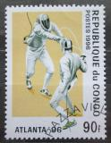 Poštovní známka Kongo 1996 LOH Atlanta, šerm Mi# 1437