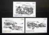 Poštovní známky Faerské ostrovy 1982 Vesnice Mi# 72-74