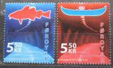 Poštovní známky Faerské ostrovy 2006 Otevření tunelu mezi ostrovy Mi# 572-73