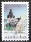 Poštovní známka Alandy, Finsko 1989 Kostel, Finström Mi# 37
