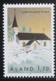 Poštovní známka Alandy, Finsko 1990 Kostel, Lumparland Mi# 43