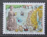 Poštovní známka Alandy, Finsko 1995 Král Olaf II. Mi# 105