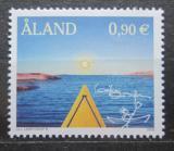 Poštovní známka Alandy, Finsko 2002 Jízda na kajaku Mi# 209