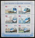 Poštovní známky Komory 2008 Americké rychlovlaky Mi# 1881-86 Kat 11€