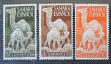 Poštovní známky Španělská Sahara 1951 Velbloudi Mi# 122-24