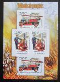 Poštovní známky Burundi 2012 Hasiči DELUXE neperf. Mi# 2423-24 B Block