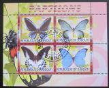 Poštovní známky Džibutsko 2008 Motýli Mi# N/N