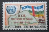 Poštovní známka SAR 1962 Vlajka a mapa přetisk Mi# 23
