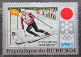 Poštovní známka Burundi 1972 ZOH Sapporo, slalom Mi# 844