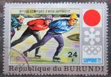 Poštovní známka Burundi 1972 ZOH Sapporo, rychlobruslení Mi# 849