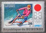 Poštovní známka Burundi 1972 ZOH Sapporo, jízda na skibobu Mi# 850