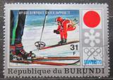 Poštovní známka Burundi 1972 ZOH Sapporo, sjezd Mi# 851