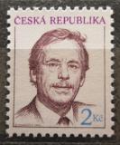 Poštovní známka Česká republika 1993 Prezident Václav Havel Mi# 3