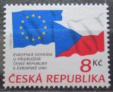 Poštovní známka Česká republika 1995 Přidružení k EU Mi# 62