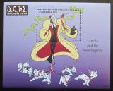 Poštovní známka Gambie 1997 Disney, 101 dalmatýnů Mi# Block 340 Kat 9.50€