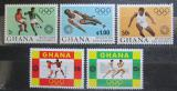 Poštovní známky Ghana 1972 LOH Mnichov Mi# 472-76 Kat 7.50€